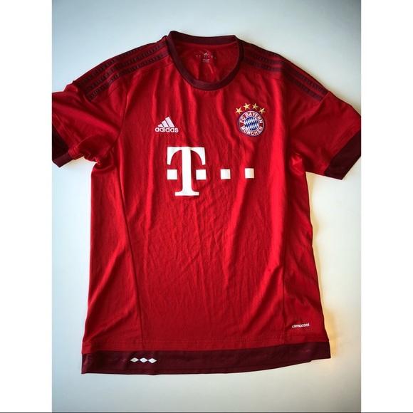 Bayern Munich Adidas T Mobile Climacool Jersey Lrg